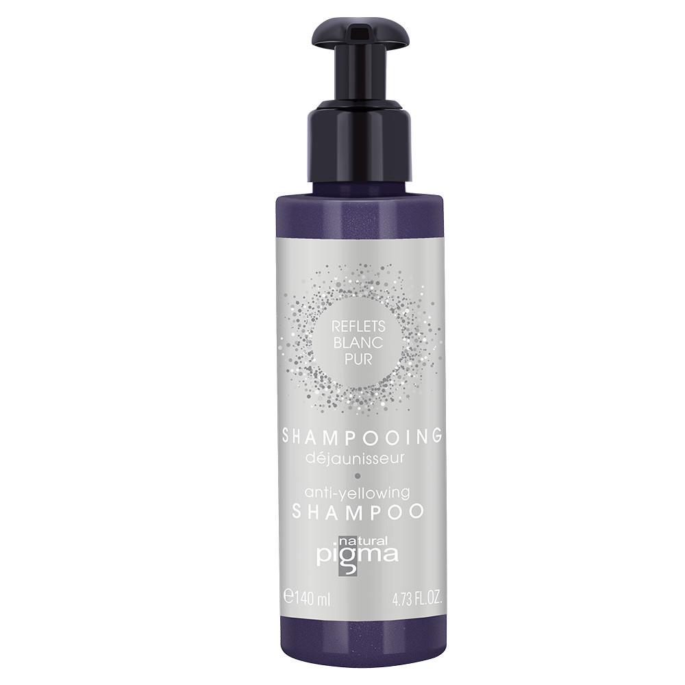 Shampooing déjaunisseur - Reflets blanc pur - Cheveux blancs et gris